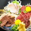 樽一 - 料理写真:鯨刺身三種盛