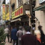 長崎菜館 - 店の外は行列です
