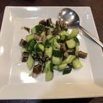 萬寿園 - 豚耳ときゅうりの炒め
