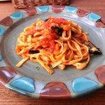 ハローズ - 料理写真:秋ナスのパンチェッタのトマトソース