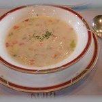10073887 - 朝市の新野菜のポタージュスープ
