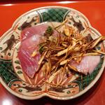 初音鮨 - めじまぐろ、焼きキャロット