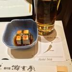 游玄亭 - お通し:豆腐キムチ