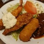 洋食屋グリルCoCCo - Cセット+エビクリームコロッケ