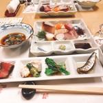 鮨・割烹 花絵巻 - お造りと前菜、海鼠(^^)