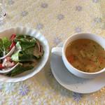 100742731 - 本日のサラダとスープ
