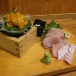 初恋屋 - 料理写真:うにと寒ブリ