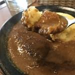 元町サトナカ - チキンは、かたまりじゃなく、スライスしたタイプで食べやすいです(2019.1.26)