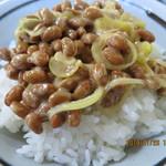 楽亭 - さんま塩焼定食,納豆