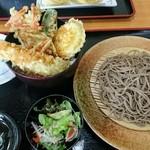 蕎麦一 - 料理写真:エビ入りミニ天丼セット(もりを選択)