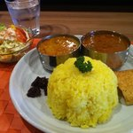 カフェアンドレストラン パハナ - パハナランチ(ダル/ポークトマト&野菜)