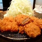 ゆうたく - ゆうたく@帯広 ろーす・ひれかつ定食 アップ