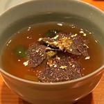日本料理 たかむら - 煮物  鶏大福 餡かけ  黒トリュフのせ