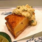 日本料理 たかむら - 揚物  芝海老真丈の挟み揚げ 自家製タルタルソース