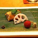 日本料理 たかむら - 焼物  鹿児島泰正養鰻の鰻 山桃添え