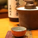 日本料理 たかむら - 新政 佐藤卯兵衛 生酛純米 日本料理たかむら 別誂 袋吊り