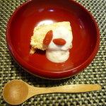 旅館 平利 - デザートの柿のムース(お昼の3,000円コース)