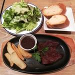 100765370 - 牛ハラミの塊肉ステーキランチ(150g)(税込み1380円)