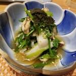 和食ながい - 芹と帆立の生姜浸し
