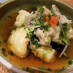 和食ながい - 鱈菊と自家製豆腐の揚げ出し