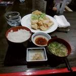 鶏スタイル - とり天定食(\850)