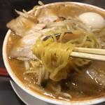 ラーメン 天風 - 麺箸上げ