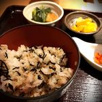 佐勘 - 鴨葱うどん御膳(ひじきごはん)