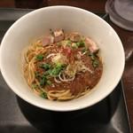 らぁ麺やまぐち 辣式 - 料理写真:プチライス付き麻婆まぜそば(900円)