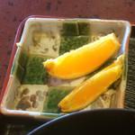 秋月 - 食後のフルーツはオレンジ