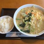 龍園 - タンメン+小ライス