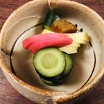 旬魚季菜 一滴 - 漬物盛り合わせ