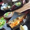 かこみ - 料理写真:鯖の焼き&煮物ランチ