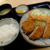 """串処 ふくべ  - 料理写真:""""日替わり/ひれカツ・海老フライ・ハムカツ"""""""