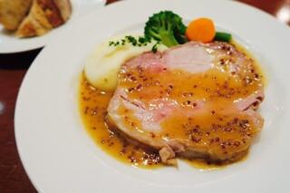 ル・リオン - 国産豚ロースのロースト 粒マスタードソース