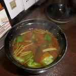 しゃぶ禅 -  赤だしのお味噌汁です。