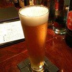 いずみ - グラスで出てくる瓶ビール(BARタイム)