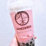 閑茶坊 - イチゴスムージータピオカトッピング(¥615)