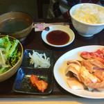 焼肉 万里 - トントロ&切り落としカルビ定食