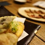 一饗 - 旬野菜の天ぷら盛り合わせ
