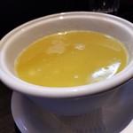 らーめん三極志 - 味玉つけ麺のスープ割