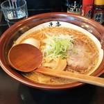 高田 煮干しと焼き味噌 豆亭 - 焼き味噌ラーメン+半熟味玉