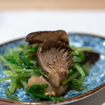 うを徳 - 2019.1 大分どんこ椎茸と京都壬生菜の胡麻和え