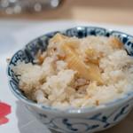 うを徳 - 2019.1 銚子ノドグロと鹿児島タケノコと木の芽の炊き込みご飯