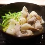 富小路 やま岸 - 猪と芹の鍋