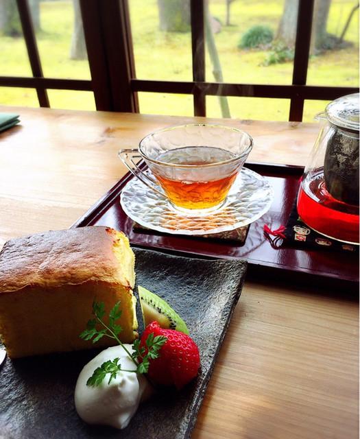 樹の音 - 焼きチーズケーキと紅茶