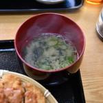 博多チャオめん - 味噌汁