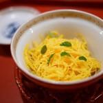 祇園 大渡 - 錦糸卵の蒸し寿司