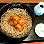 そば処 ほん多屋 - 料理写真:そば処 ほん多屋@佐呂間町 冷やしかしわそば・大盛り(980円+210円)