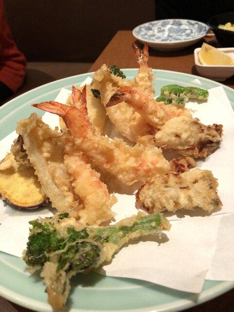 天ぷら ひさご - 天ぷら盛り合わせ2名分