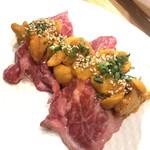 100851362 - 雲丹のせザブトン寿司